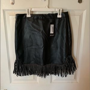 nasty gal leather skirt